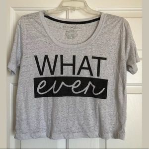 Fifth Sun Grey Cropped T-shirt What Ever Size Med